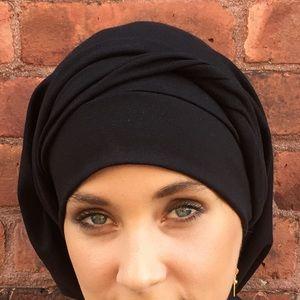 705f14ef98996 Uptown Girl Headwear Accessories - Black Cotton Hijab Tichel Hair Wrap USA